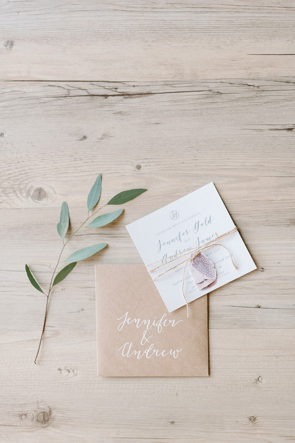 Stationery for a safari wedding