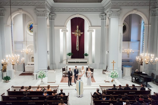 Wedding ceremony in Holy Trinity Catholic Church, Washington