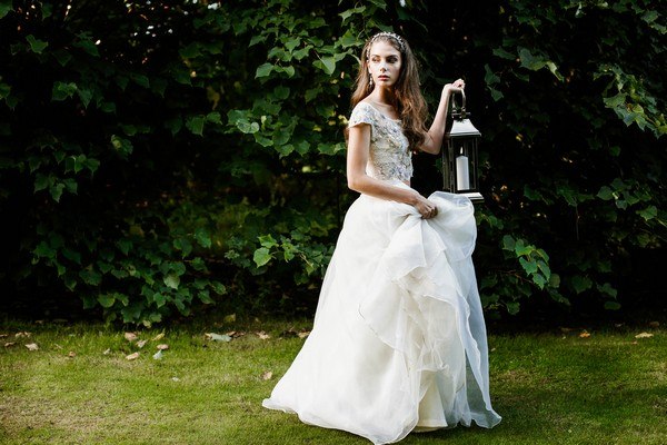 Bride carrying lantern