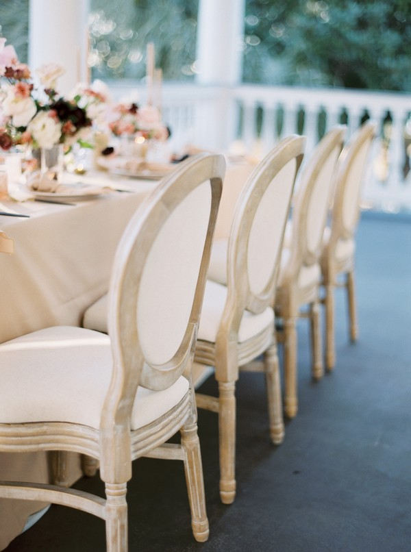 Louis chairs at wedding table