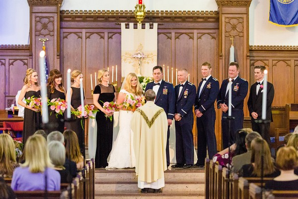 Wedding ceremony in Summerall Chapel, Charleston
