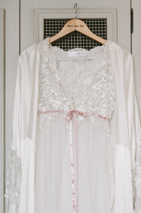 Bridal lingerie and dressing gown