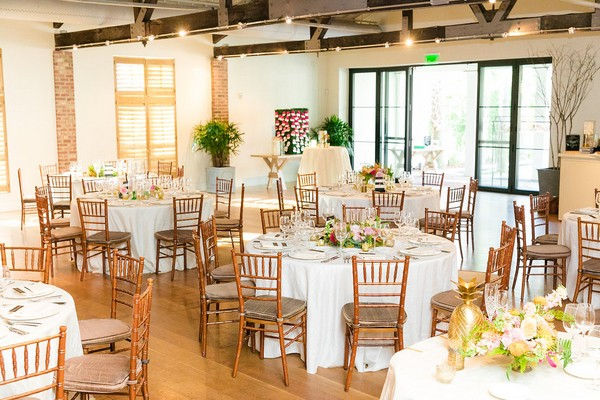Wedding tables in Cannon Green, Charleston