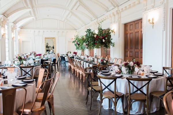 Wedding tables in DAR, Washington