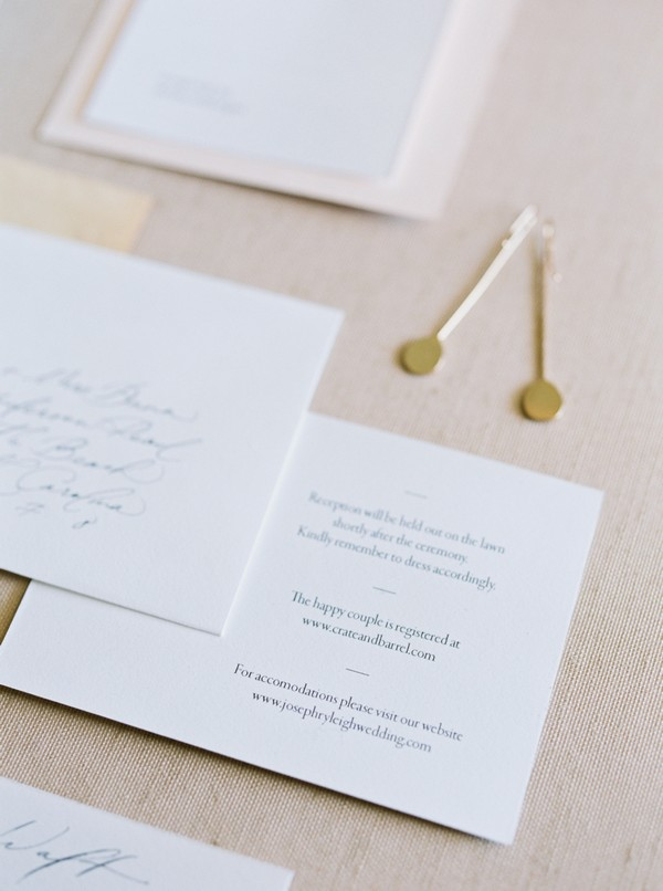 Simple wedding details card