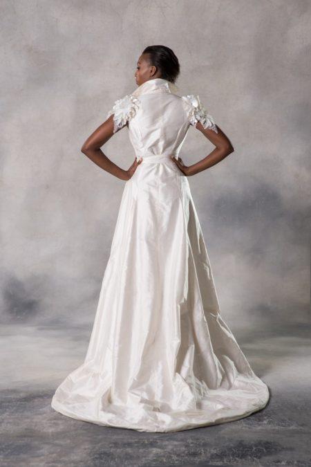 Back of Adira Wedding Dress from the Anna Georgina Couture Pandora 2019 Bridal Collection