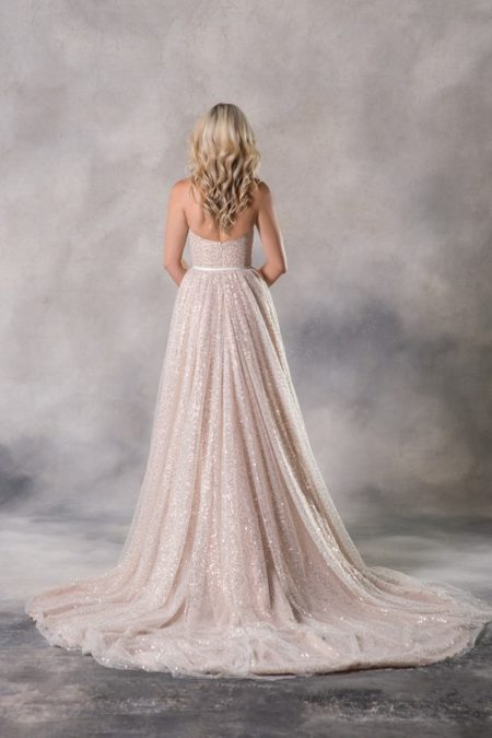 Back of Alexia Wedding Dress from the Anna Georgina Couture Pandora 2019 Bridal Collection