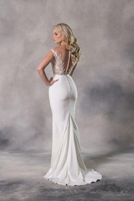 Back of Anna Wedding Dress from the Anna Georgina Couture Pandora 2019 Bridal Collection