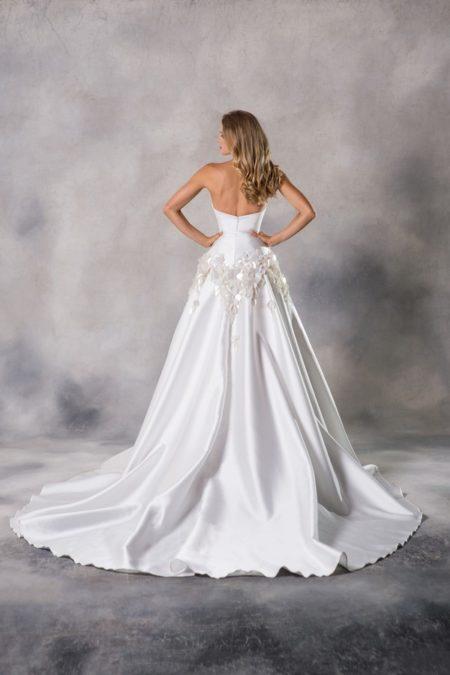 Back of Aurora Wedding Dress from the Anna Georgina Couture Pandora 2019 Bridal Collection