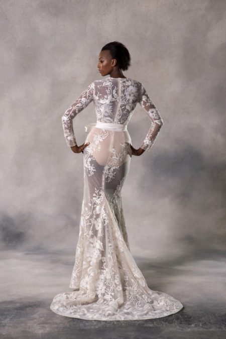 Back of Autumn Wedding Dress from the Anna Georgina Couture Pandora 2019 Bridal Collection