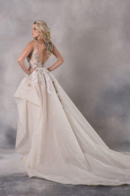Back of Brigitte Wedding Dress from the Anna Georgina Couture Pandora 2019 Bridal Collection