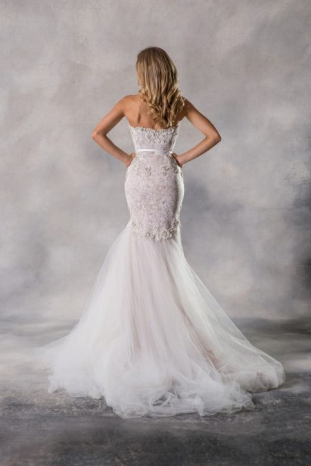 Back of Charlize Wedding Dress from the Anna Georgina Couture Pandora 2019 Bridal Collection