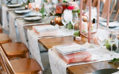 A Marble, Copper and Pink Himalayan Salt Styled Wedding