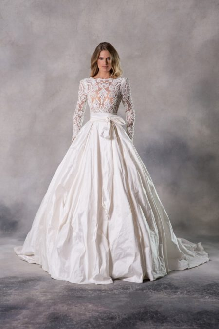 Valencia Top with Stella Skirt from the Anna Georgina Couture Pandora 2019 Bridal Collection