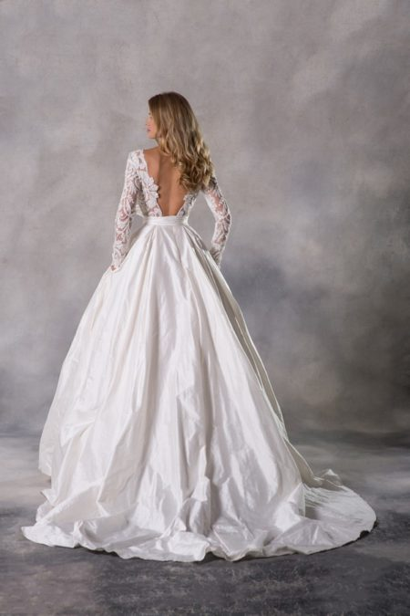 Back of Valencia Top with Stella Skirt from the Anna Georgina Couture Pandora 2019 Bridal Collection