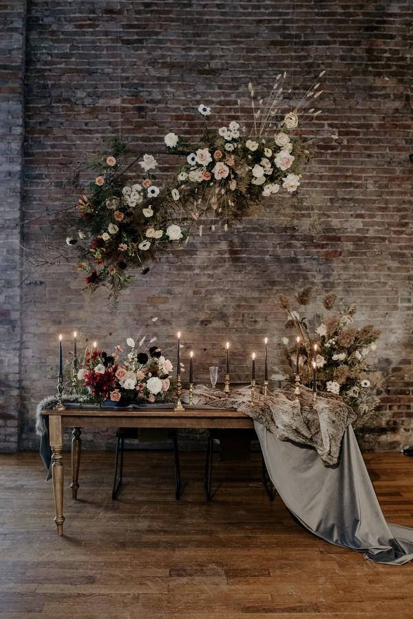 Small table with autumn wedding styling at 99 Sudbury