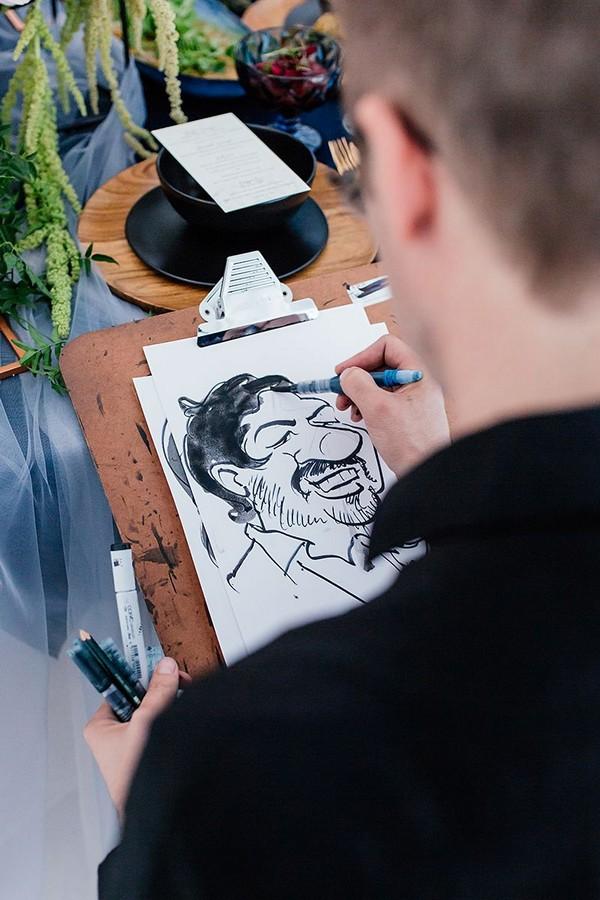 Caricature of groom