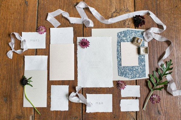 Simple, elegant wedding stationery