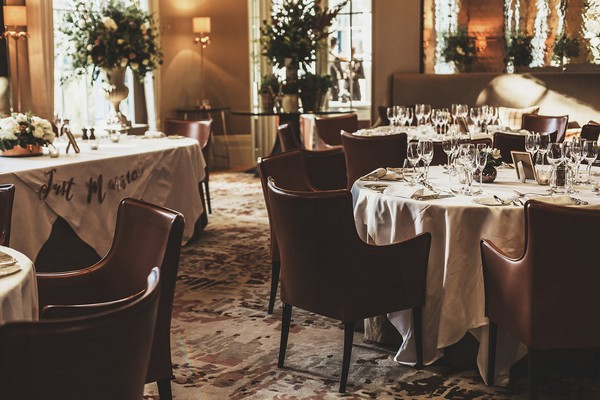 Wedding tables at Coworth Park