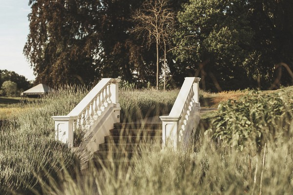 Steps in gardens of Coworth Park