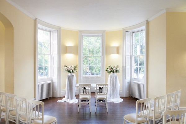 Wedding ceremony room at Clissold House