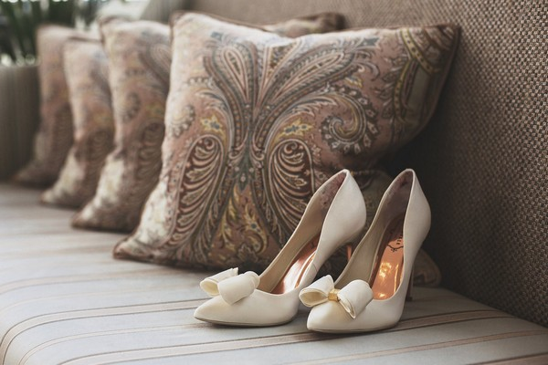 Ted Baker wedding shoes with copper insole
