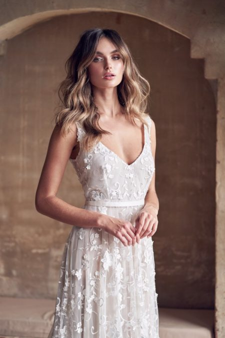 Detail on Amelie Wedding Dress from the Anna Campbell Wanderlust 2019 Bridal Collection