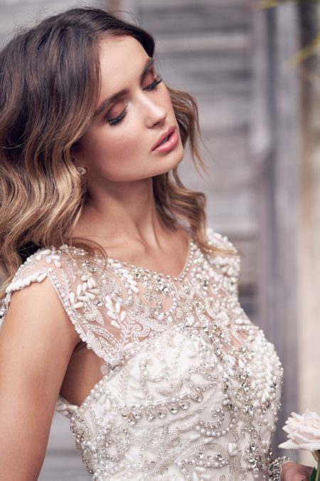 Detail on Aria Wedding Dress from the Anna Campbell Wanderlust 2019 Bridal Collection