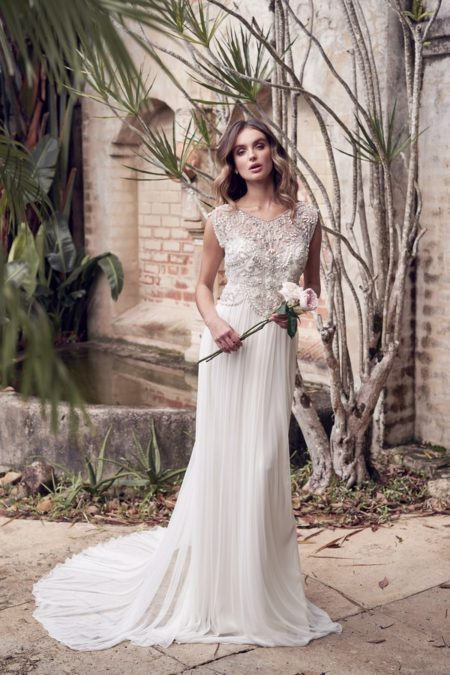 Aria Wedding Dress with Silk Tulle Skirt from the Anna Campbell Wanderlust 2019 Bridal Collection