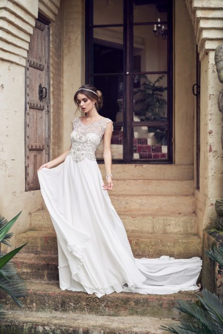 Aria Wedding Dress with Summer Skirt from the Anna Campbell Wanderlust 2019 Bridal Collection