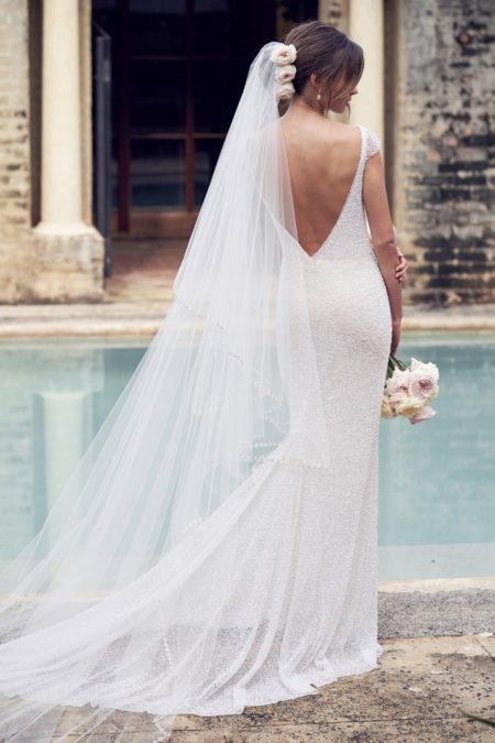 Back of Blair Wedding Dress from the Anna Campbell Wanderlust 2019 Bridal Collection