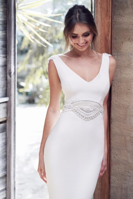 Detail on Blake Wedding Dress from the Anna Campbell Wanderlust 2019 Bridal Collection