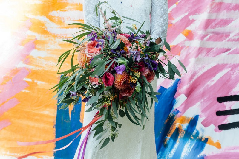 Colourful Oversized Wedding Bouquet