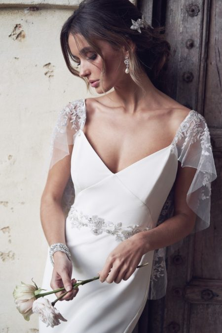 Detail on Eva Wedding Dress from the Anna Campbell Wanderlust 2019 Bridal Collection