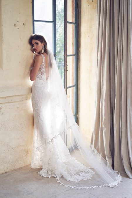 Back of Harlow Wedding Dress from the Anna Campbell Wanderlust 2019 Bridal Collection
