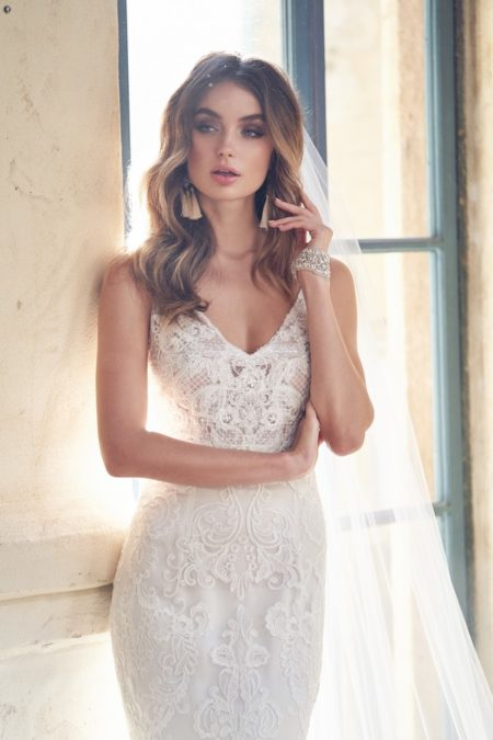 Detail on Harlow Wedding Dress from the Anna Campbell Wanderlust 2019 Bridal Collection