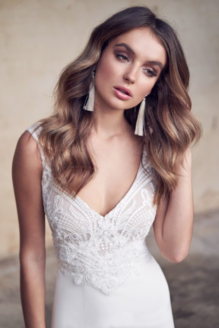 Detail on Jamie Wedding Dress from the Anna Campbell Wanderlust 2019 Bridal Collection