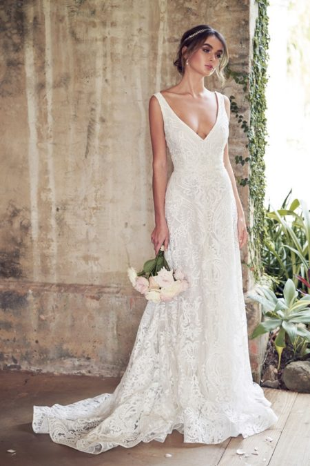 Jamie Wedding Dress with Empress Lace Skirt from the Anna Campbell Wanderlust 2019 Bridal Collection