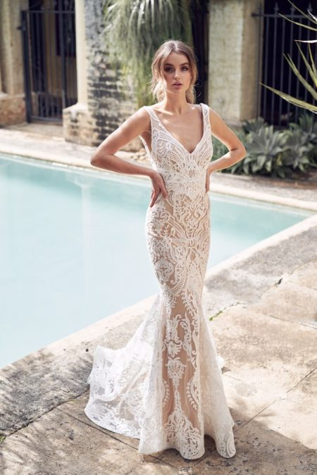 Jamie Wedding Dress with Trumpet Skirt from the Anna Campbell Wanderlust 2019 Bridal Collection