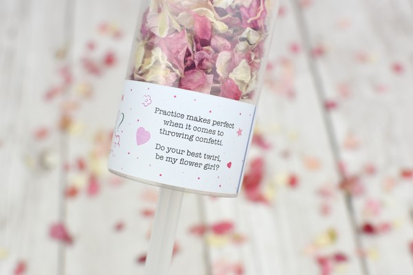Message On Will You Be My Flower Girl Confetti Pop from Shropshire Petals