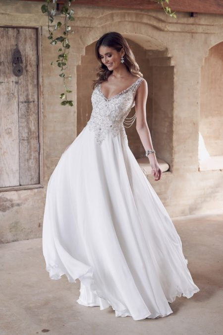 Paige Wedding Dress with Summer Skirt from the Anna Campbell Wanderlust 2019 Bridal Collection