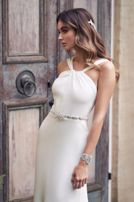 Detail on Rebekah Wedding Dress from the Anna Campbell Wanderlust 2019 Bridal Collection