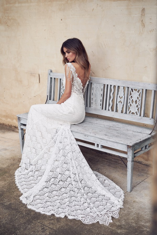 Back of Saasha Wedding Dress from the Anna Campbell Wanderlust 2019 Bridal Collection