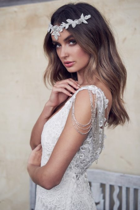 Detail on Saasha Wedding Dress from the Anna Campbell Wanderlust 2019 Bridal Collection