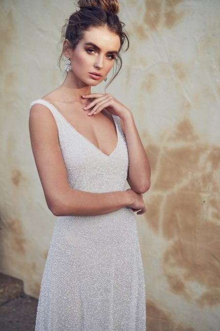 Detail on Wanda Wedding Dress from the Anna Campbell Wanderlust 2019 Bridal Collection