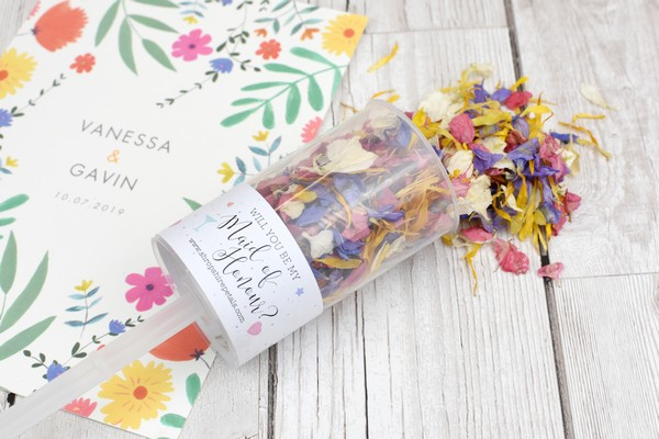 Will You Be My Maid of Honour Confetti Pop from Shropshire Petals