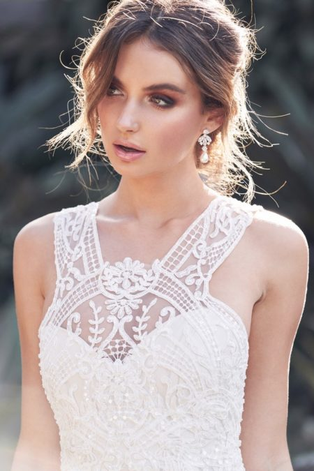 Detail on Winter Wedding Dress from the Anna Campbell Wanderlust 2019 Bridal Collection