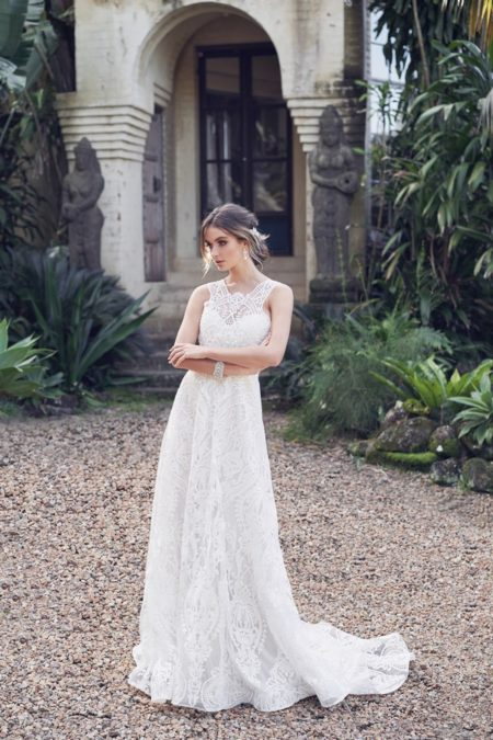 Winter Wedding Dress with Empress Lace Skirt from the Anna Campbell Wanderlust 2019 Bridal Collection