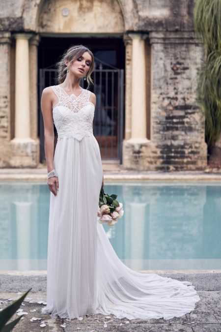 Winter Wedding Dress with Silk Tulle Skirt from the Anna Campbell Wanderlust 2019 Bridal Collection