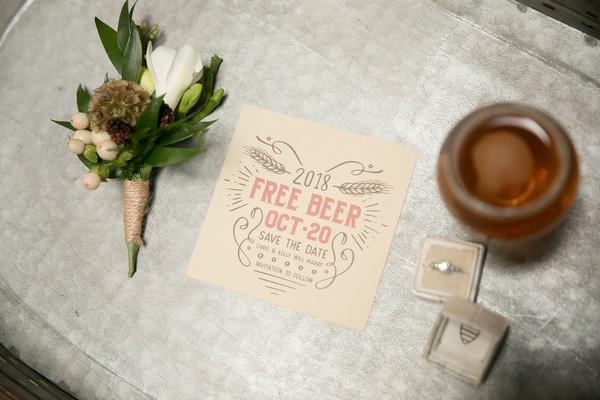 Free beer wedding save the date